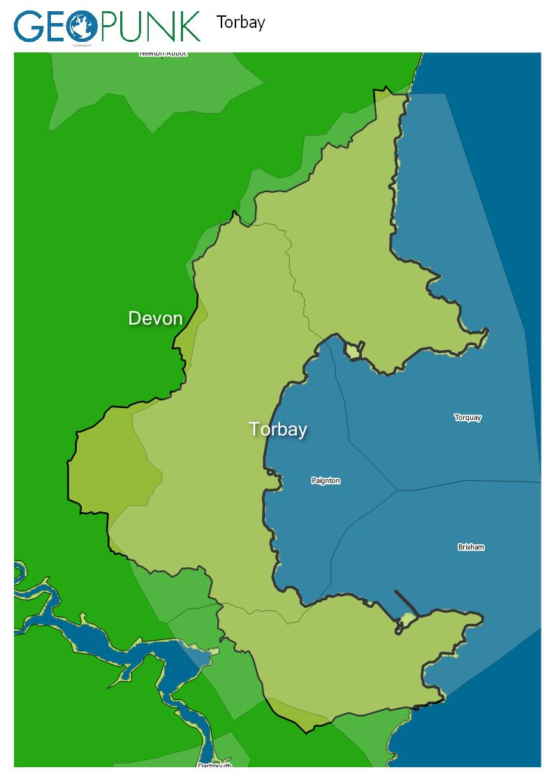 map of Torbay