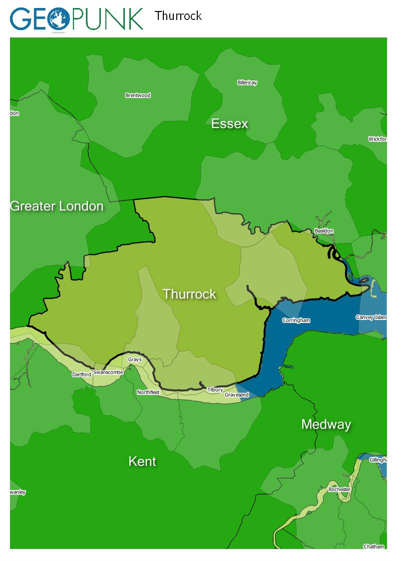 map of Thurrock