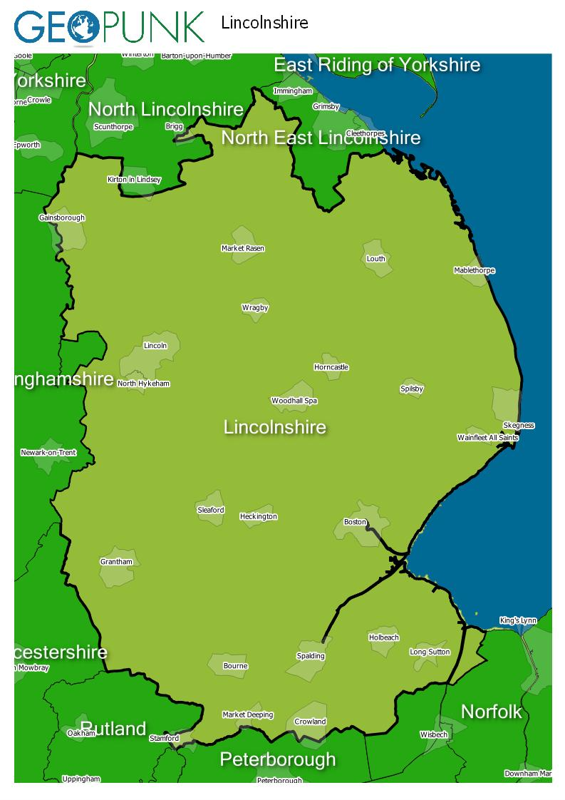 map of Lincolnshire