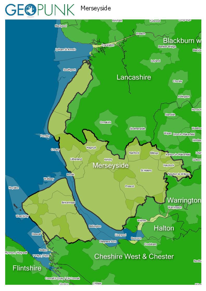 map of Merseyside