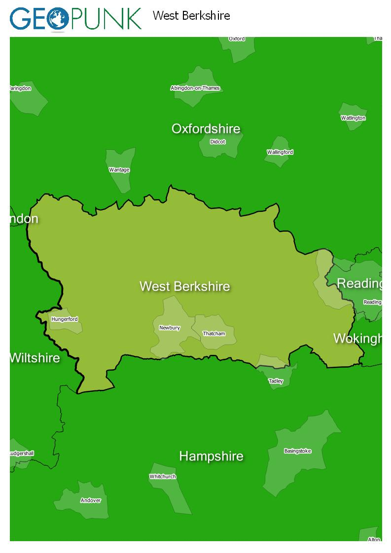 map of West Berkshire