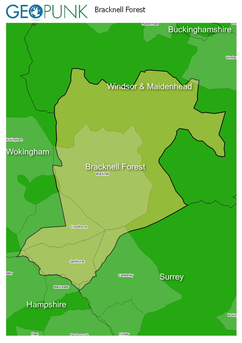 map of Bracknell Forest