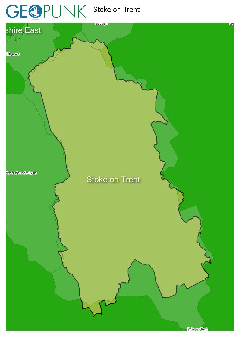 map of Stoke On Trent
