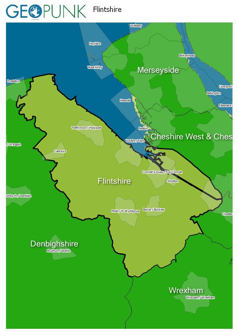 map of Flintshire