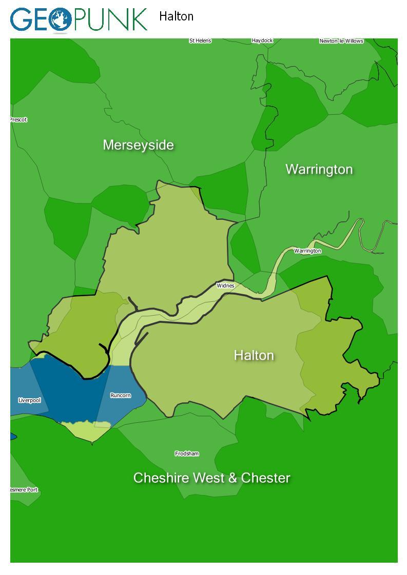 map of Halton