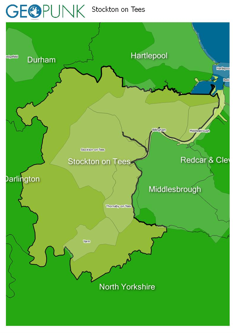map of Stockton On Tees