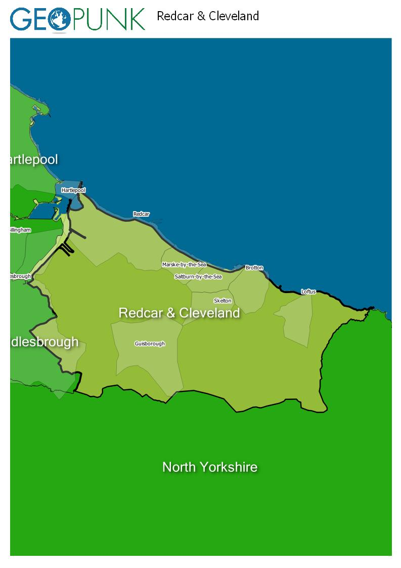 map of Redcar & Cleveland