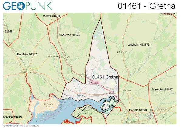 Map of the Gretna area code