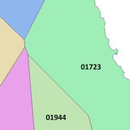 01377 View Map of the Driffield Area Code