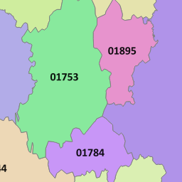01344 View Map of the Bracknell Area Code