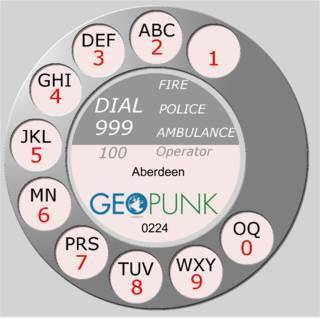 picture showing an old rotary dial for the Aberdeen area code