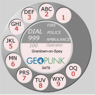 picture showing an old rotary dial for the Grantown-on-Spey area code