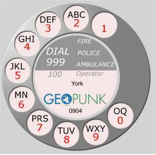 picture showing an old rotary dial for the York area code